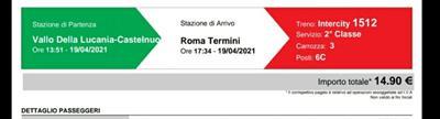 Biglietti Salerno-Roma