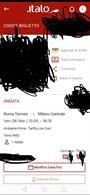 Biglietto Roma Termini - Milano centrale 6/03