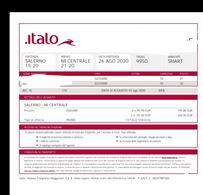 2 biglietti Salerno - Milano 26 Agosto
