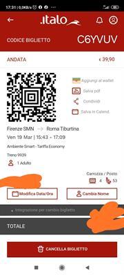 Biglietto Italo Treno