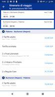 2 biglietti a/r Palermo - Bucharest Orari Comodi
