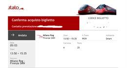 Biglietto Milano Rog - Firenze 5 marzo