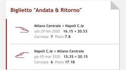 Biglietto Italo Milano-Napoli e viceversa