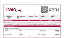 Biglietto Italo 23/11