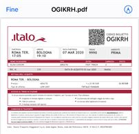 Biglietto Treno Italo 07/03