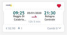 Treno Reggio Calabria- Bologna