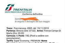 Frecciarossa AV Brescia - Firenze CM 19/11