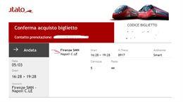 Biglietto Firenze - Napoli Giov 5/03
