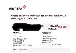 4 biglietti Ancona - Olbia 12/07 - 17/07