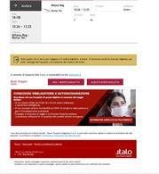 Biglietto Italo da Milano a Roma terminj 18 Agosto
