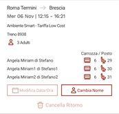 3 biglietti Roma - Brescia 06/11