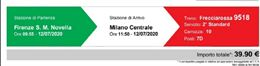 Trenitalia frecciarossa Firenze smn-Milano