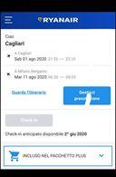 Volo Orio al Serio - Cagliari 1 - 11 agosto